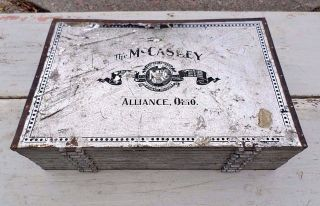 Antique Mccaskey Register Co.  Accounting Receipt Form File Money Holder Case photo