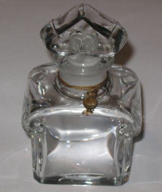 Vintage Guerlain Baccarat Perfume Bottle L ' Heure Bleue/mitsouko 4 3/4