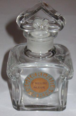 Vintage Guerlain L ' Heure Bleue Baccarat Perfume Bottle 5