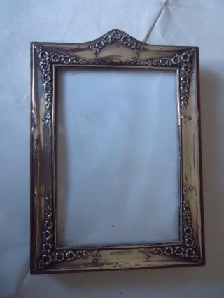 Art Nouveau English Silver Picture - Photo Frame - Chester 1914.  Easel Type photo
