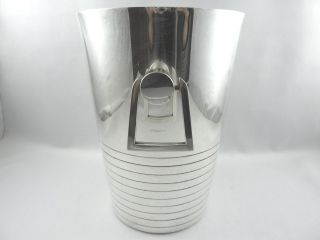 French Art Deco Champagne Wine Cooler Bucket Silverplated Similar Luc Lanel photo
