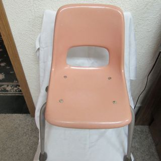 Mid Century Childs 4 Leg Fiberglass Brunswick School Class Room Chair Seat 21