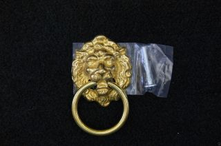 Drawer Ring Pull Lions Head Brass photo