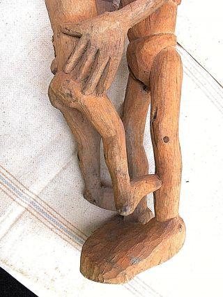 Carved Wood Asmat Human Couple,  Southwest Guinea photo