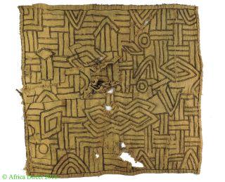 Kuba Textile Handwoven Raffia Congo African Art 2 Feet Was $85 photo