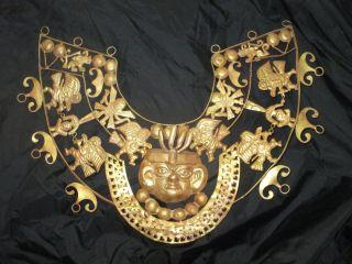 Mochica Tumbaga Front Moche,  Precolumbian Alloy Copper Moche,  Precolumbian photo