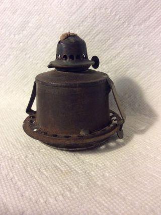 Old 1862 Sangster Patent Marine Nautical Kerosene Lantern Burner Tank photo