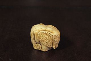 Netsuke Style Elephant photo