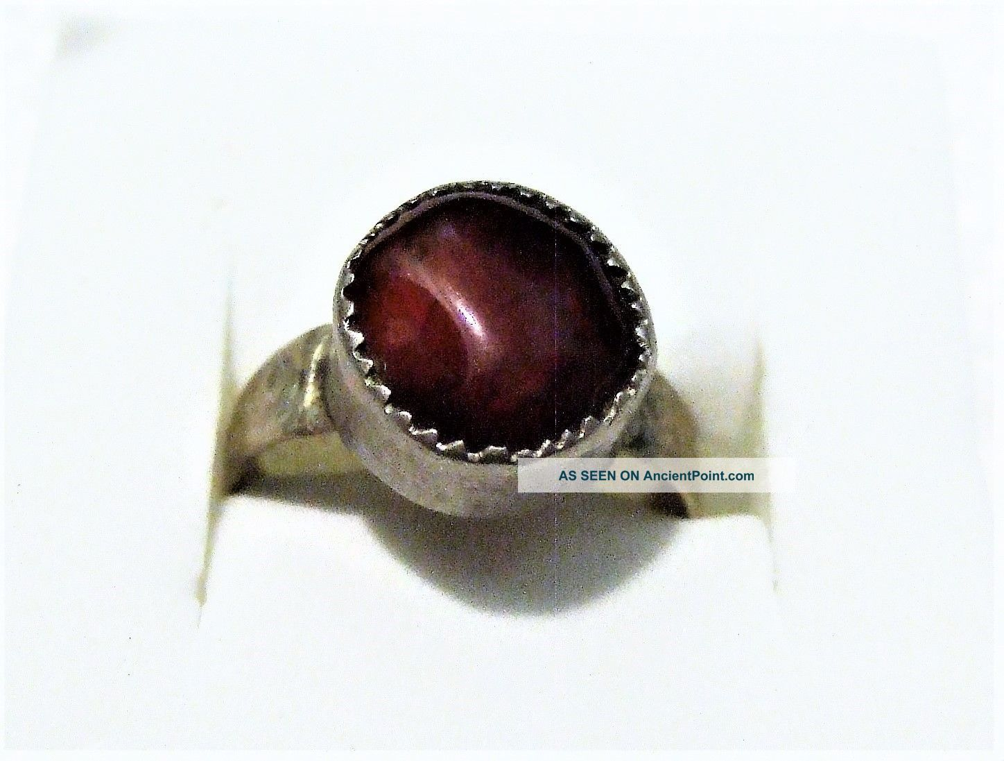 Vintage Islamic Middle Eastern Tribal Ethnic Red Agate Ring خاتم اسلامي Islamic photo