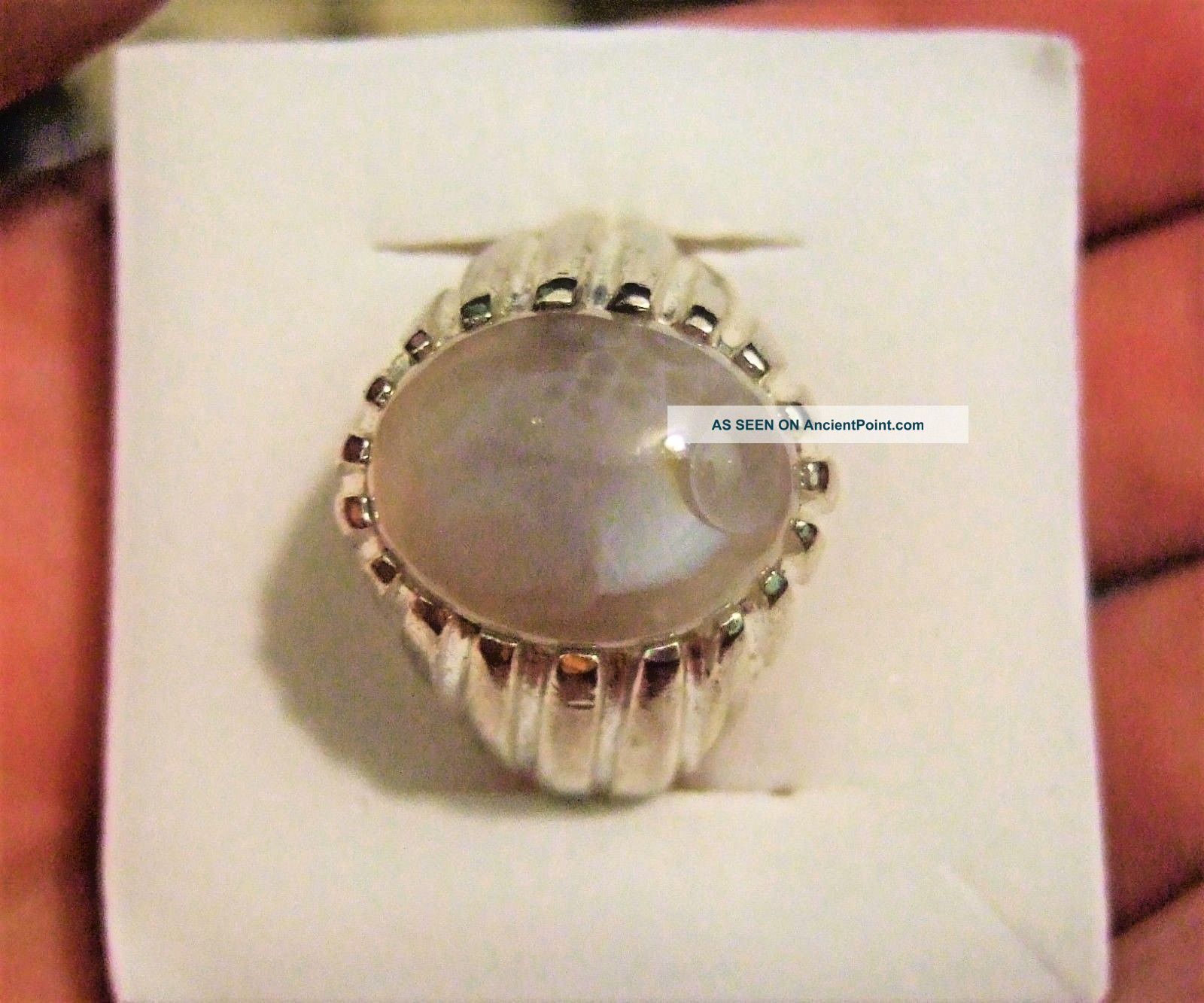 Vintage Islamic Middle Eastern Tribal Ethnic Banded Agate Ring خاتم اسلامي Islamic photo