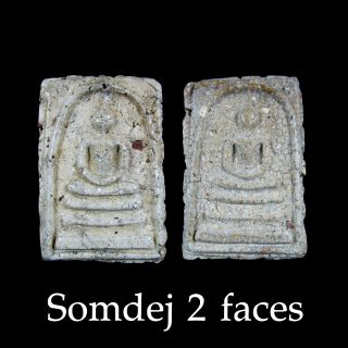 Rare Phra Somdej Toh Pim 2 Face Wat Rakhang Thai Buddha Thai Amulets photo