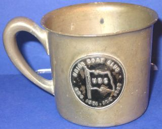 Vintage Nautical 1932 Union Boat Club Boston Bumping Prize Wallace Pewter Cup Nr photo