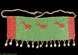 Kirdi Apron Beadwork Cache Sexe Horses Cameroon Africa Was $99 photo