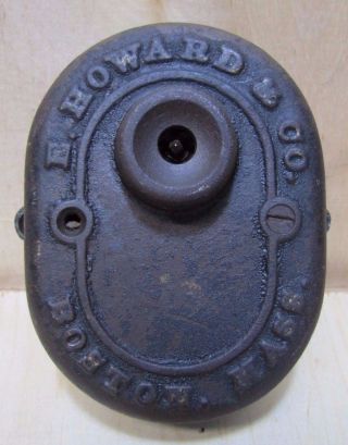 Antique Cast Iron E Howard & Co Boston Mass Box Part Clock Industrial Steampunk photo