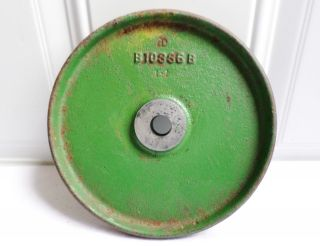 Antique Vintage Metal John Deere Jd Industrial Wheel Gear Farm Primitive Decor photo