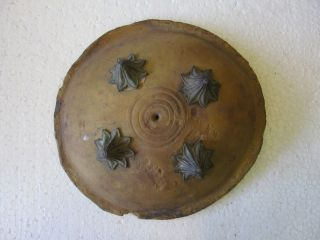 Antique Rajput Mughal Museum Quality Leather War Shield Armor 2883 photo