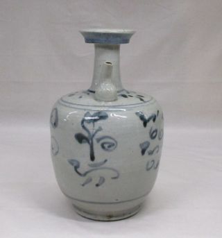 E873: Korean Joseon - Dynasty Style Blue - And - White Porcelain Water Pot photo