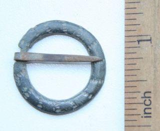 Ancient Old Ornament Bronze Fibula Brooch (ocr22) photo