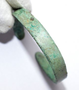 Rare Celtic Iron Age Bronze Bracelet Stunning - Wearable - A474 photo