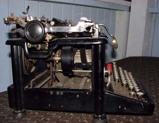Remington Standard Typewriter March,  1921 Porcelain Keys Well Bell Rings photo