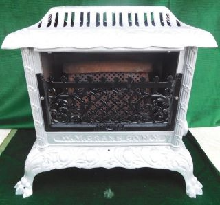 1910 Antique Vulcan Cast Iron Gas Heater - Claw Feet - W.  M.  Crane Co. ,  Ny photo