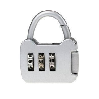 Resettable 3 Digit Safe Combination Luggage Code Suitcase Lock Silver photo