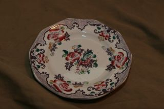 Antique Polychrome Hand Tinted Transferware 6