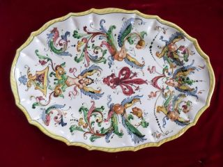 Antique Majolica/faince Italian Platter photo