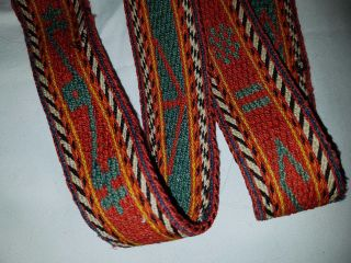 Traditional Bulgarian Folk Costume Piece,  Woven Sash - Poyas,  Pojas 2 photo