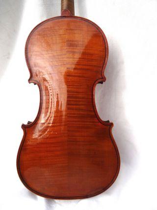 Antique/old German 3/4 Violin C.  1920 Leipzig Highly Figured Tiger Maple photo