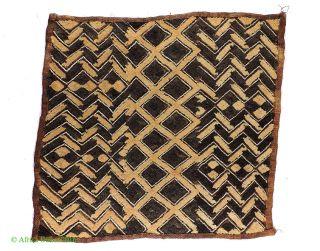 Kuba Square Raffia Handwoven Textile Congo African Art Was $49 photo