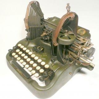 Vintage 1912 Oliver Standard Typewriter Visible Writer 9 - Mostly Order photo