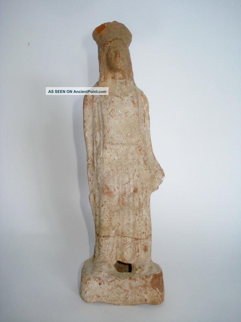 Ancient Greek Standing Pottery Goddess Figure 400 Bc Greek photo