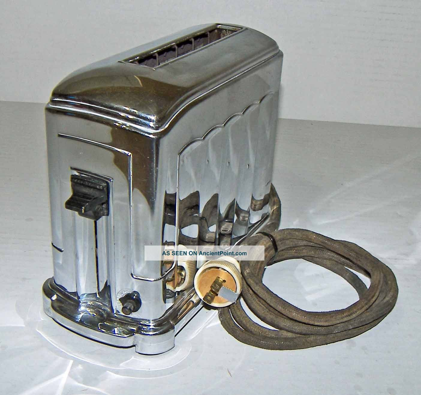 【nice】vintage Mcgraw 1a4 Toastmaster 1 - Slot Chrome Art Deco Toaster Toasters photo