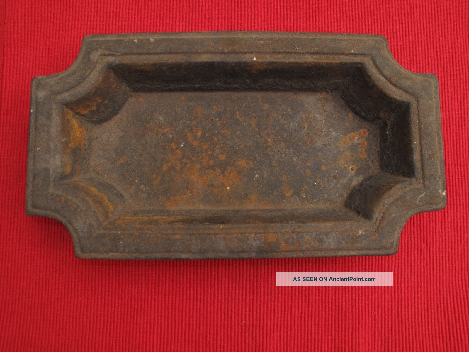 Antique Cast Iron Victorian Hall Tree Umbrella Stand Insert Tray Loaf Pan 1800-1899 photo