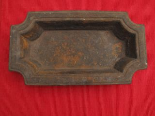 Antique Cast Iron Victorian Hall Tree Umbrella Stand Insert Tray Loaf Pan photo