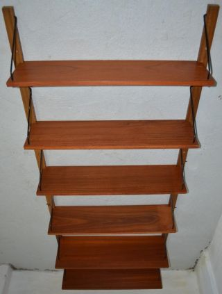 Modern Danish Design - Teak Wall Unit System - Panton Era photo
