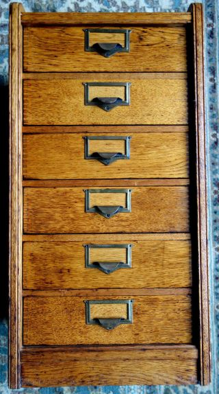 Globe Filing Company,  Cincinnati,  Ohio Six Drawer File Cabinet photo
