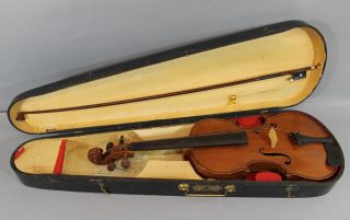 Quality Antique 4/4 Figured Maple Violin,  Bow & Case Nr photo