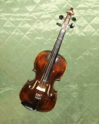 Estate Vintage/antique Fullsize German Violin Imprinted Stamped