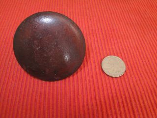 Large Antique Mahogany Empire Round Drawer Pull Knob 2 3/8