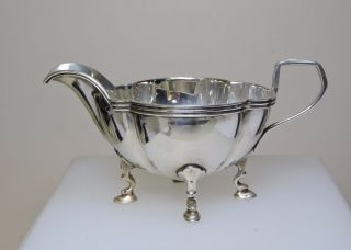 Quality Sterling Silver Cream Jug By E.  S.  Barnsley (70751) photo