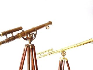 Best Combo Offer Solid Brass Antique Telescope - Shiny Tripod Gift Floor Telescope photo