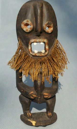 Vintage Hand Carved Wood Voodoo / Witch Doctor Tribal Figurine photo