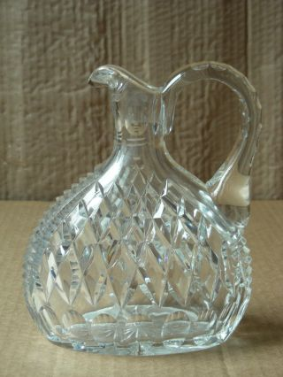 Vintage Cut Glass Decanter With Sterling Silver Stopper photo
