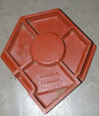 Interesting Old Wood Pattern Geometric Foundry Casting Mold Sculpture Base photo