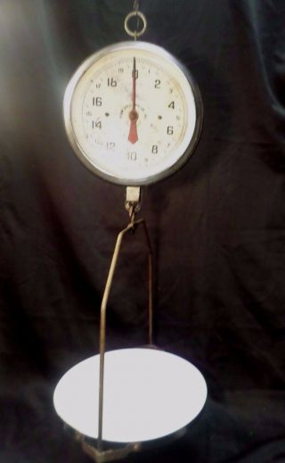 Vintage Hanging Scale 60lb Capacity Rustic Penn Scale Mfg Co - Nyc And Penna Old photo