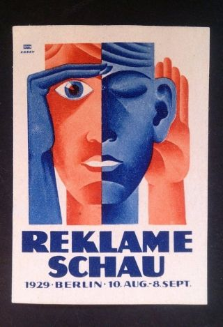 Modernist Poster Stamp Hans Fritz Rosen 1929 Advertising Bauhaus photo