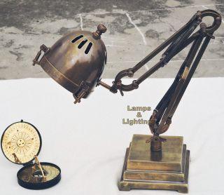 Restoration Hardware 1900 ' S Atelier Task Table Lamp,  Brown Antique Finish Replica photo