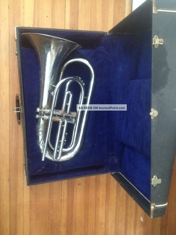 Rare American - Command Power - Bore Baritone Bugle /brass Horn By Heritag Usa Brass photo